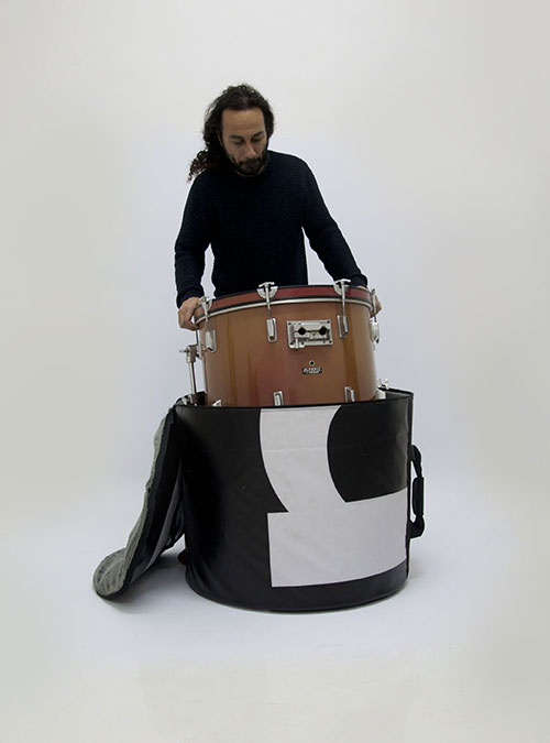Handcrafted Drum Set Bag made by www.crearebags.com