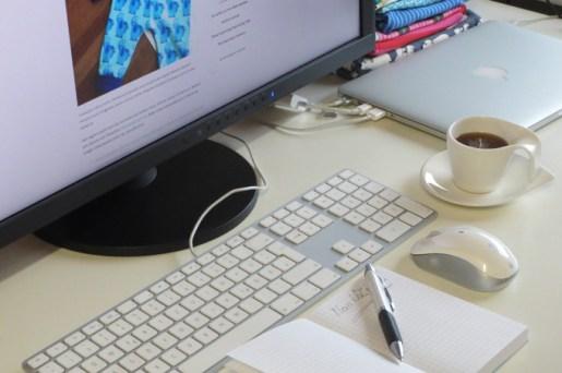 Mein Arbeitsplatz zum Bloggen
