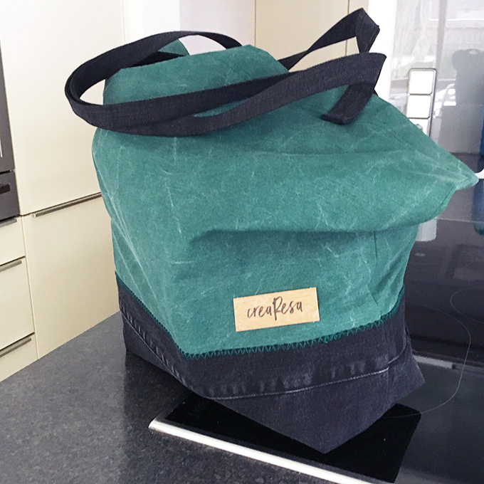 Stofftasche - Jeansupcyling