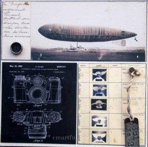 vintage collage, ephemera