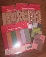 weihnachtliches Motivpapier und Motivpapier in KaKAO-Karten-Größe