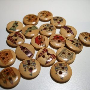Botons de fusta monuments Crea't