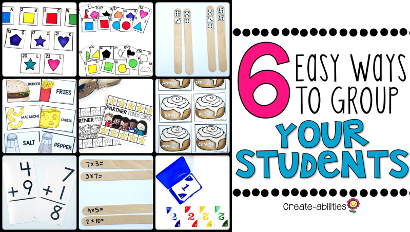 6 Ways to Group Your Students