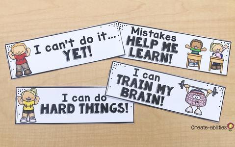 Growth Mindset Bookmarks