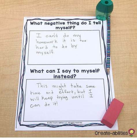 fixing negative self talk growth mindset