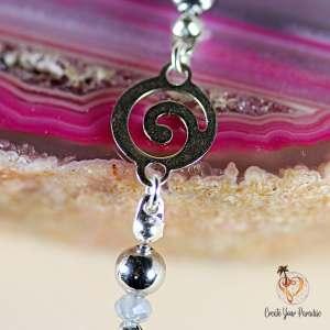 Bracelet Spirale Perles de Verre