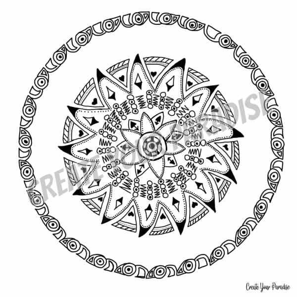 Mandala Toupie