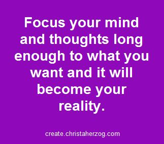 focus your mind and thoughts