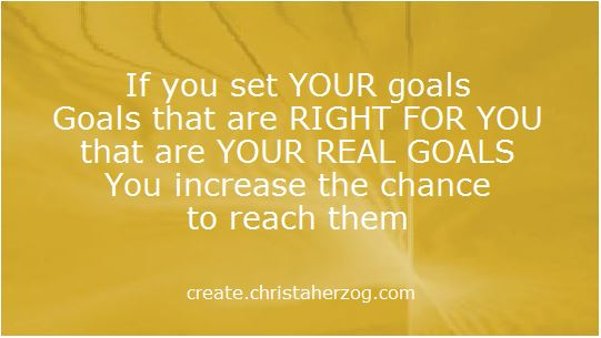 Set the Right Goals