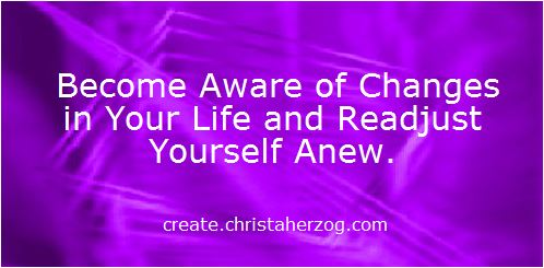 Readjust yourself anew