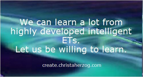 We can learn from ETs