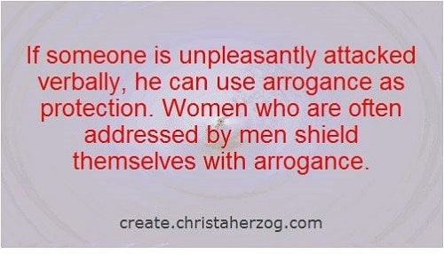 Arrogance as protection