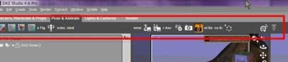 【Daz Studio4.6】好きな小メニューをメニューバーに出す方法。【メニューのカスタマイズ(標準機能)】
