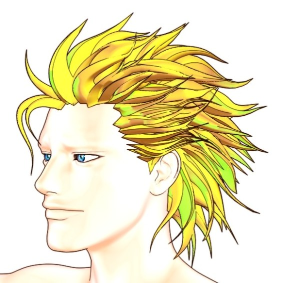 【Autodesk Maya 2014】Ryanの髪を作る 14【カーブ&押し出し】<img style=