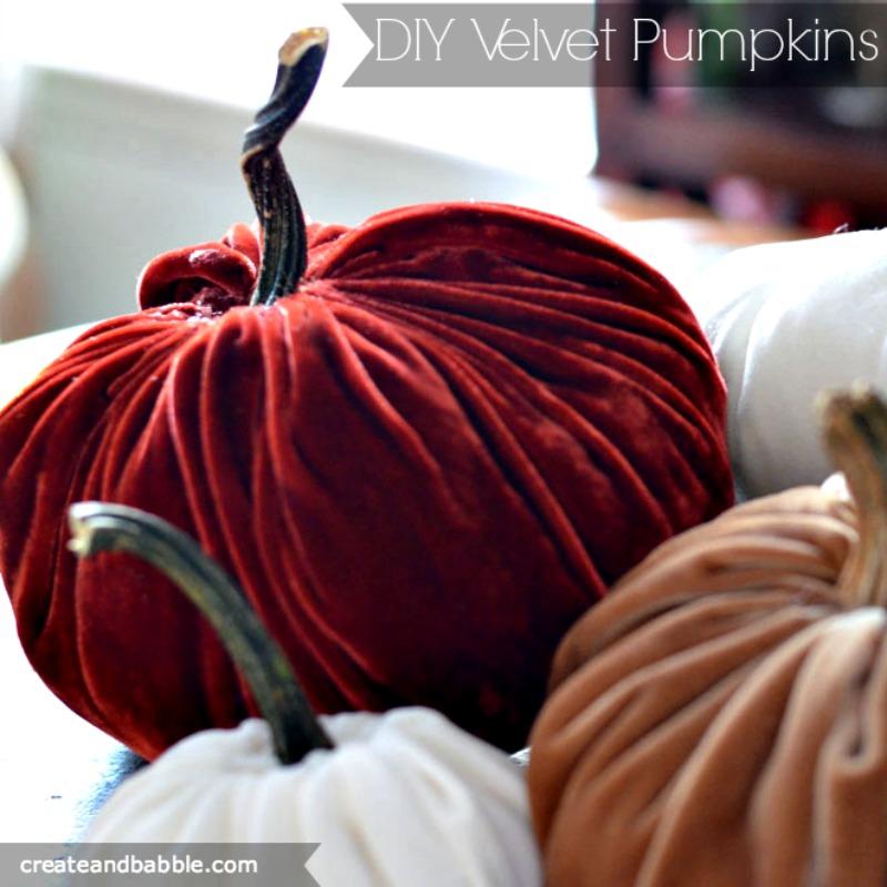 DIY velvet pumpkins-createandbabble.com