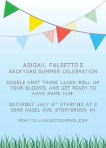 Backyard Party Invite - Blue Sky   Custom Invitations   Create&Capture