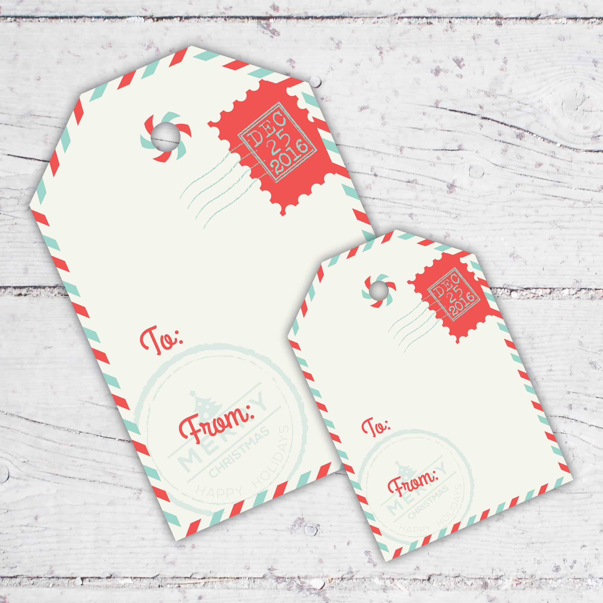 Special Delivery Christmas Gift Tags | 3 inch & 4.5 inch | Print-It-Yourself | Digital Download | Printable | Santa Claus Is Coming To Town