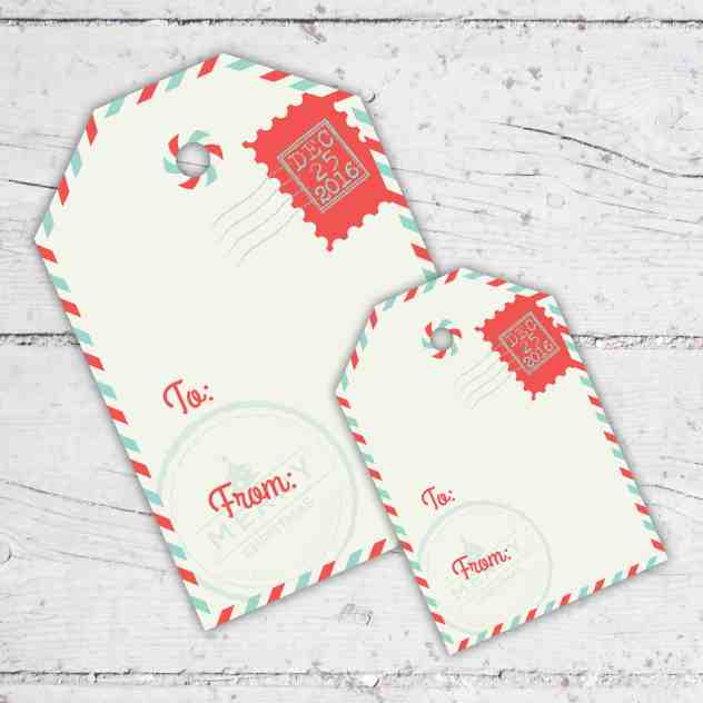 Special Delivery Christmas Gift Tags   3 inch & 4.5 inch   Print-It-Yourself   Digital Download   Printable   Santa Claus Is Coming To Town