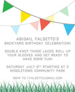 Abigail's Backyard Birthday Invite