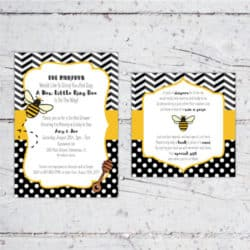 Ba-Bee Baby Shower Invitation & Decor Package | Create&Capture