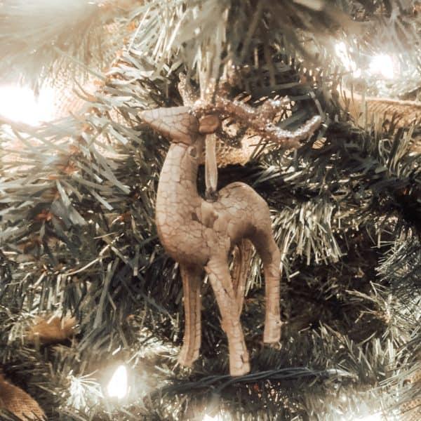 Maker's Holiday Christmas Woodland Lodge Reindeer Ornament