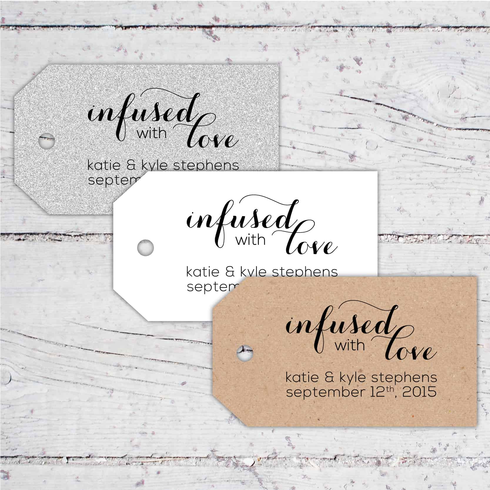 Infused With Love Wedding Favor Tags