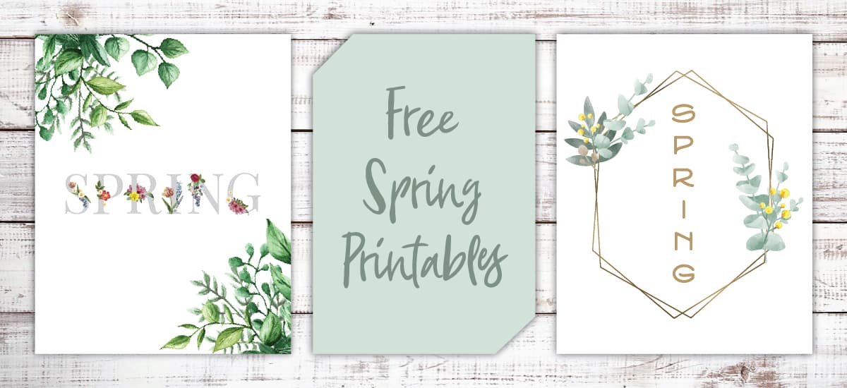 Free Spring Printables Downloadable Spring Wall Art Decor Create&Capture