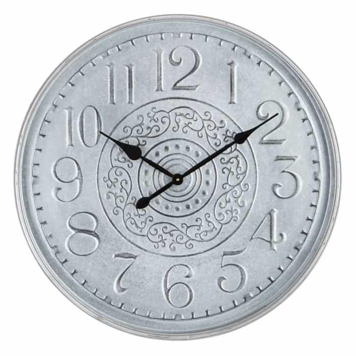 Galvanized Metal Clock