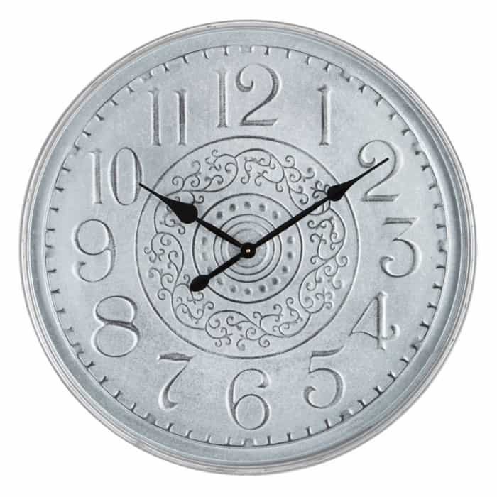 Galvanized Metal Clock