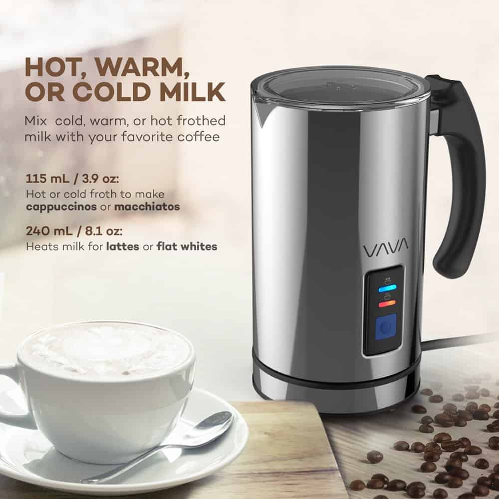 VAVA Milk Frother Electric Liquid Heater with Hot Milk Functionality | create&capture gift guide 2020