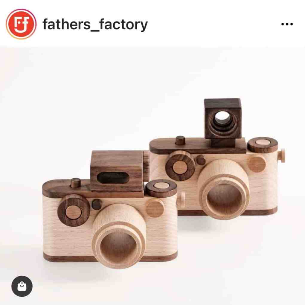 NEW 35MM Vintage Style Wooden Toy Camera from Father's Factory | Create&Capture Gift Guide 2020