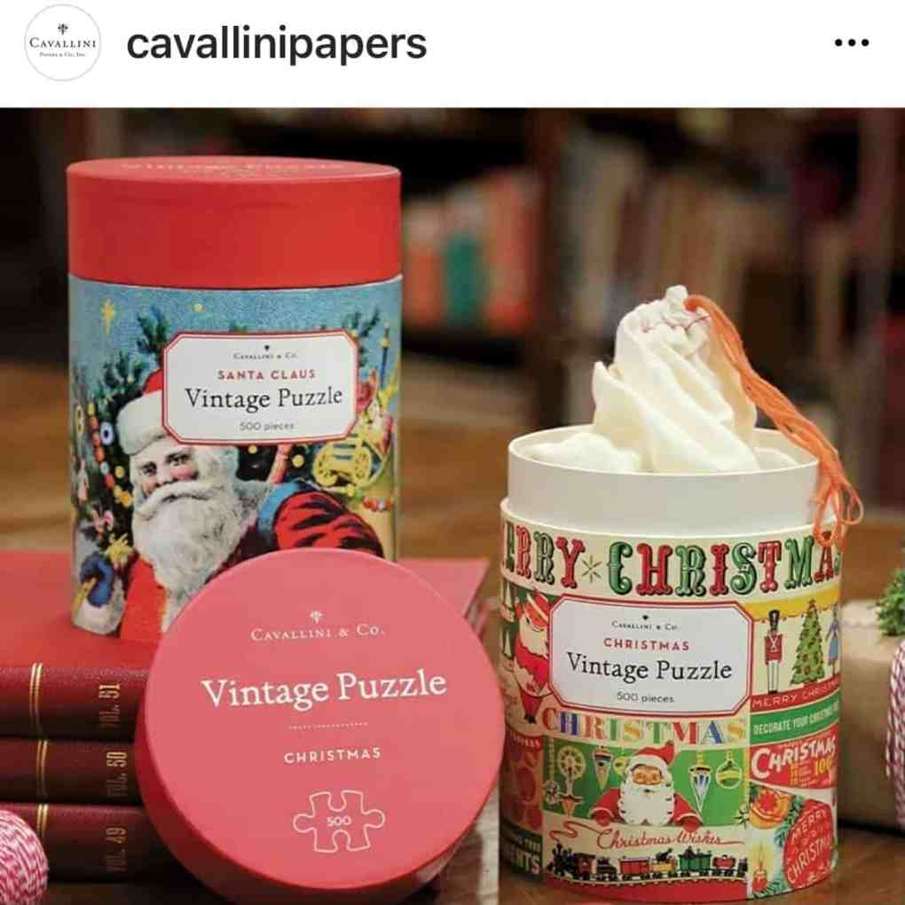 Vintage Christmas Puzzles from Cavallini & Co | Create&Capture 2020 Gift Guide