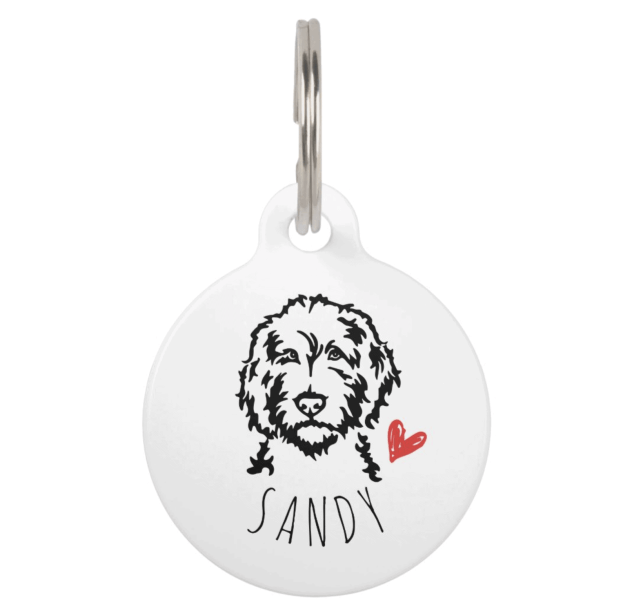 Labradoodle or Goldendoodle Personalized ID Tag by Create&Capture on Zazzle