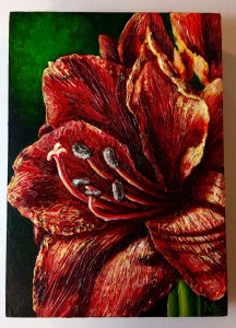 Spice Amaryllis Painting Michelle East Art