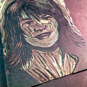 PopArt Self Portrait Lino Printmaking