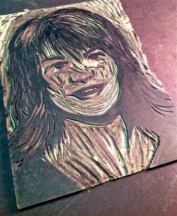 PopArt Self Portrait Lino Printmaking