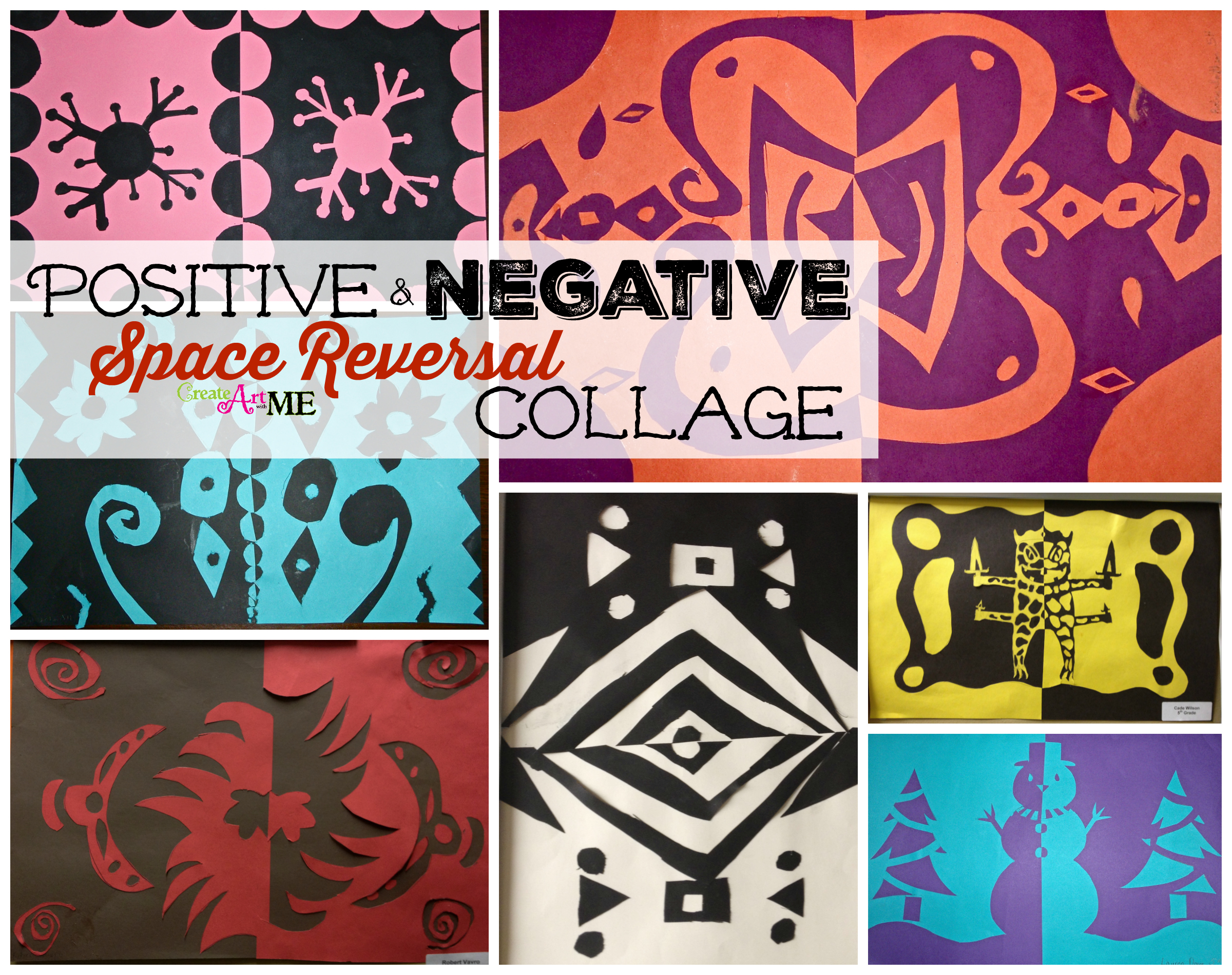Positive Amp Negative Space Reversal Collage