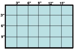 3 inch grid Adire Eleko Cloth art lesson