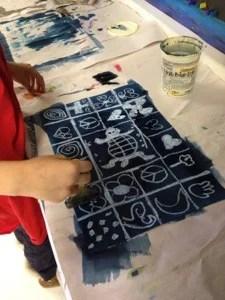 Adire Eleko Cloth art lesson