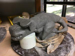 Roll a Beast Ceramic sculpture