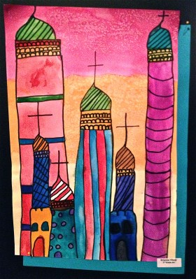 St Basil Painting Shapes in architecture lesson