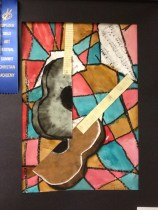 Abstract Cubism Guitar Art Lesson