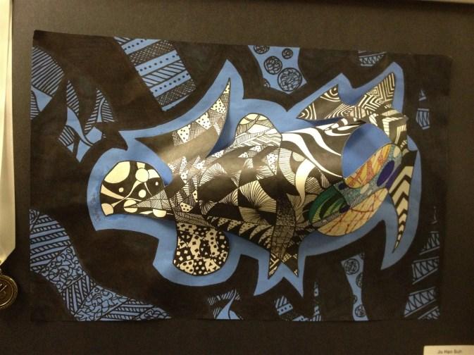 Zentangle Paper Sculpture by Ju Han