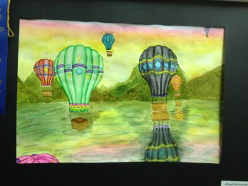 Hot Air balloon Watercolor by Abigail