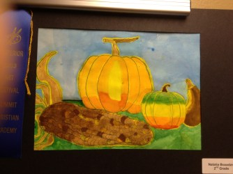 Pumpkin Watercolor by Natalia