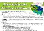 Basic Watercolor Lesson