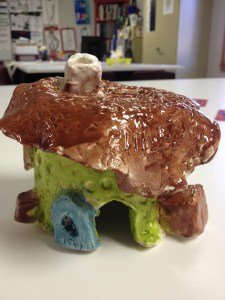 Ceramic Fairy Houses slab construction Lesson Glazing