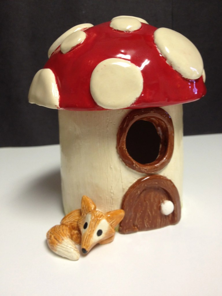 Ceramic Fairy HouseCeramic Fairy Houses slab construction