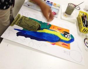 Beyond the Border HS art lesson