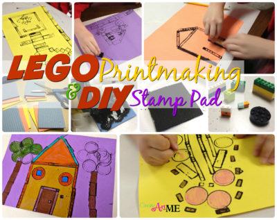 lego printmaking DIY Stamp Pad